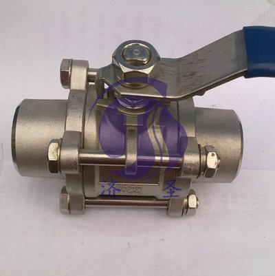 不锈钢q61f-16p对焊三片式球阀图片