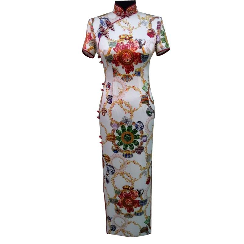 中国风长装修身旗袍