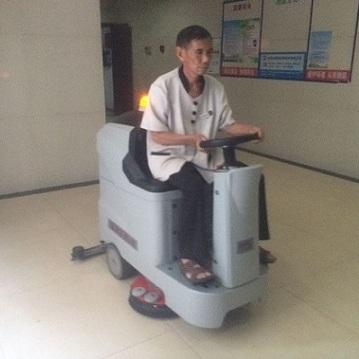 善洁电动洗地机65B物业医院商场专用