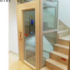 杭州OTSE室内观光家用电梯 小井道楼梯 集选控制曳引式家用观光电梯