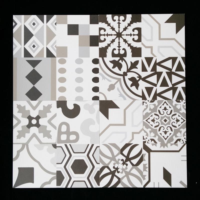 仿古黑白艺术 瓷砖 花砖背景墙瓷砖电视墙拼图小地砖300 300