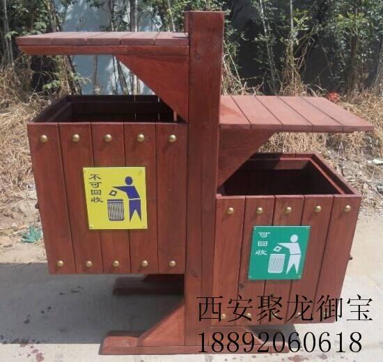 西安仿古木垃圾桶供应 城市木垃圾桶效果图 木垃圾桶定制厂家 批发木垃圾桶价格