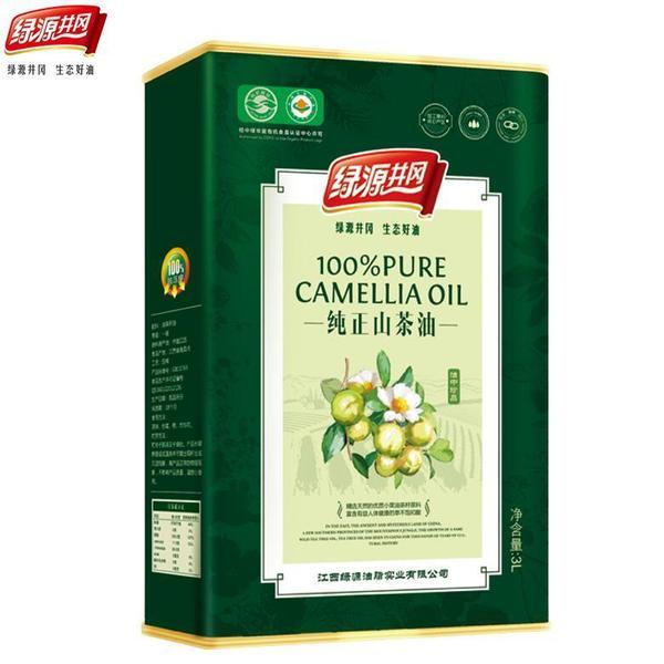 【绿源井冈】纯山茶油3L食用油 物理压榨铁听装茶籽油