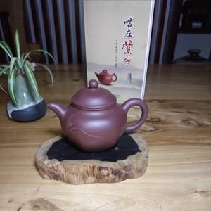 喀左紫砂壶  品名:六方莲子泥料:紫泥