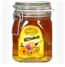 批发进口德国MIBO BLOSSOM Honey 蜜宝天然百花蜂蜜1000g*6瓶