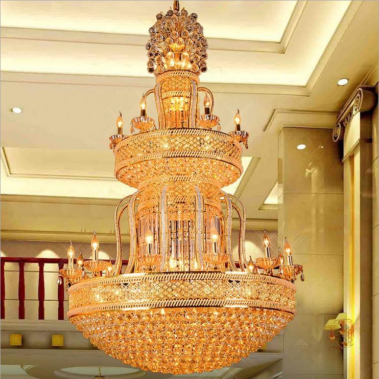 厂家直销 欧式客厅吊灯 简欧现代灯具 复式楼中楼别墅大吊灯双层
