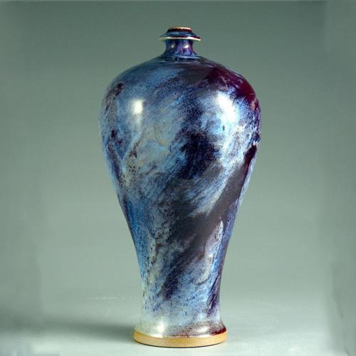 梅瓶  正玉钧窑仿清古典传统收藏花瓶