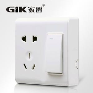 超薄明装开关插座电源插座明线面板一开五孔单控