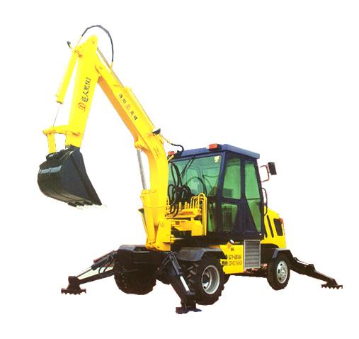供应超人wly 4.0轮式液压 挖掘机图片