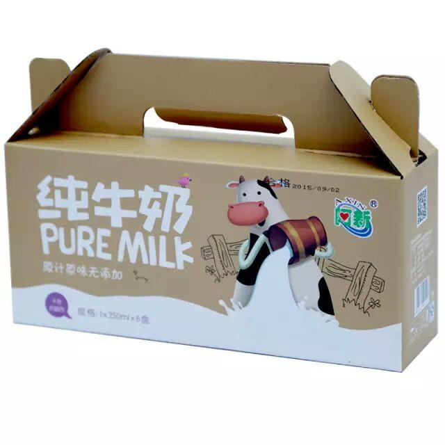 纯牛奶阿新牛奶阿新纯牛奶原汁原味无添加不含防腐剂纯鲜牛奶制作6盒装