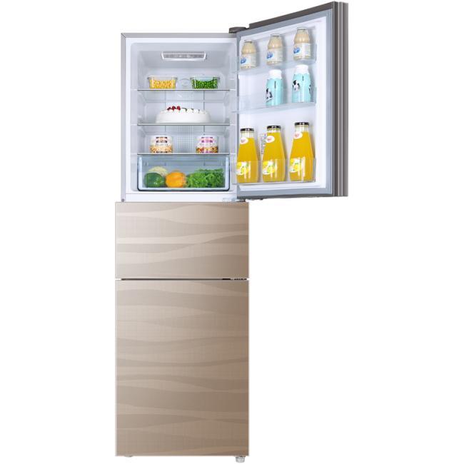 供应Haier海尔BCD-218WDGS一级静音电冰箱三门节能 家用钢化风冷无霜