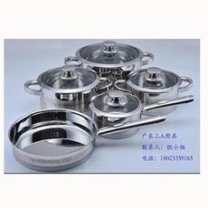 不锈钢锅贴牌 5件套 锅具套装 不锈钢锅图片 品牌锅具代加工