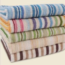 供应纯棉布条纹毛巾