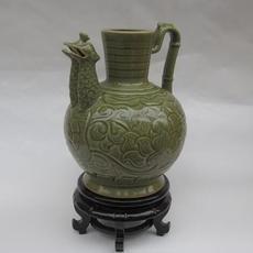 供应耀州瓷双凤壶