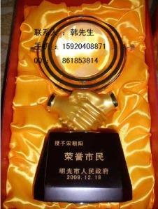 水晶握手地球仪、惠州单位纪念品、高档办公摆件,广州水晶摆件