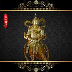 供应  韦陀菩萨  130cm 雕刻精美  国内顶尖技术真金套色工艺   厂家可定制
