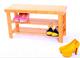 长期供应 雕刻面楠竹换鞋凳子 简易组装 实用多功能 自然原色