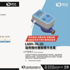 宁波水表厂家WSD数字远传(网络)水表 光电直读远传水表