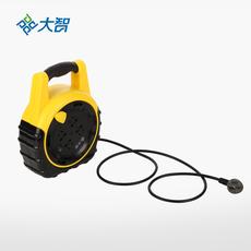 大智五重防护10米线圈高温阻燃材料绕线插座 最新国标用电保护插排插线板