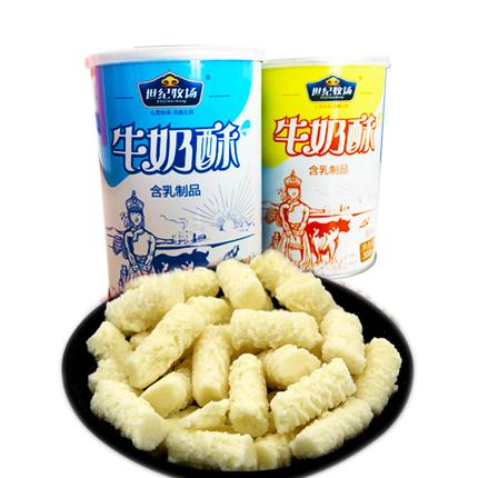 世纪牧场   牛奶酥   原味酸奶味  1x300g