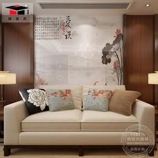 砖状元 定制瓷砖背景墙 新中式 客厅电视沙发艺术墙墙砖 爱莲说