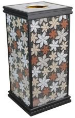 电梯口灭烟桶 铝型材垃圾桶 厂家批发果皮箱 可批发