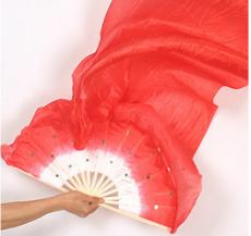 总长1.8 米广场舞扇子厂家批发长绸扇舞蹈扇子舞台道具戏剧用品