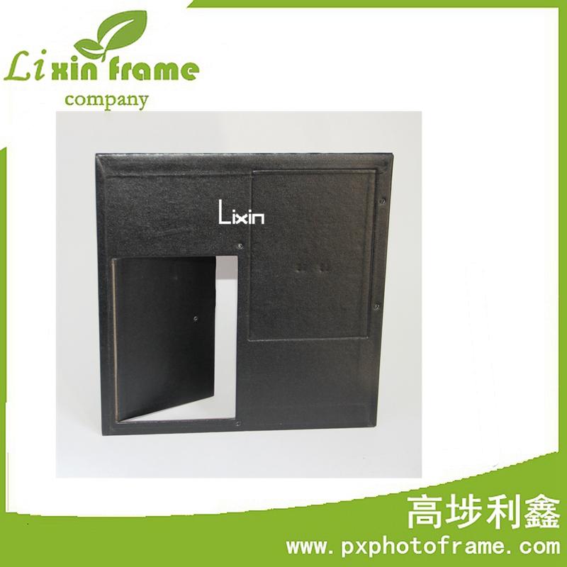 纯手工相框背板定制 高档杏色绒布背板支架 高品质相框背面支撑