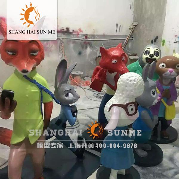 疯狂动物城迪斯尼系列模型玻璃钢雕塑