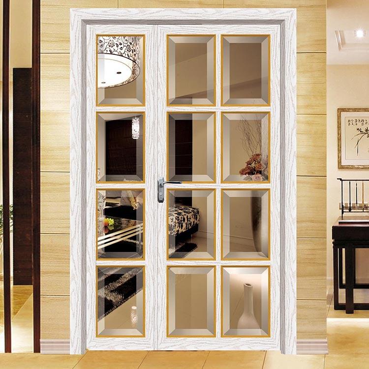 厂家斜边 简约现代房间门 拼格复合门窗 玻璃木材组合平开门