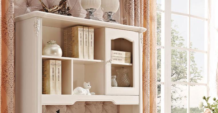 供应欧式直角转角实木衣柜书桌书柜组合法式台式实木衣柜图片