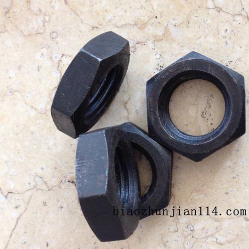 供应GB6172螺母 m20薄型螺母国标牙对边29.5厚度10 高强度螺母现货