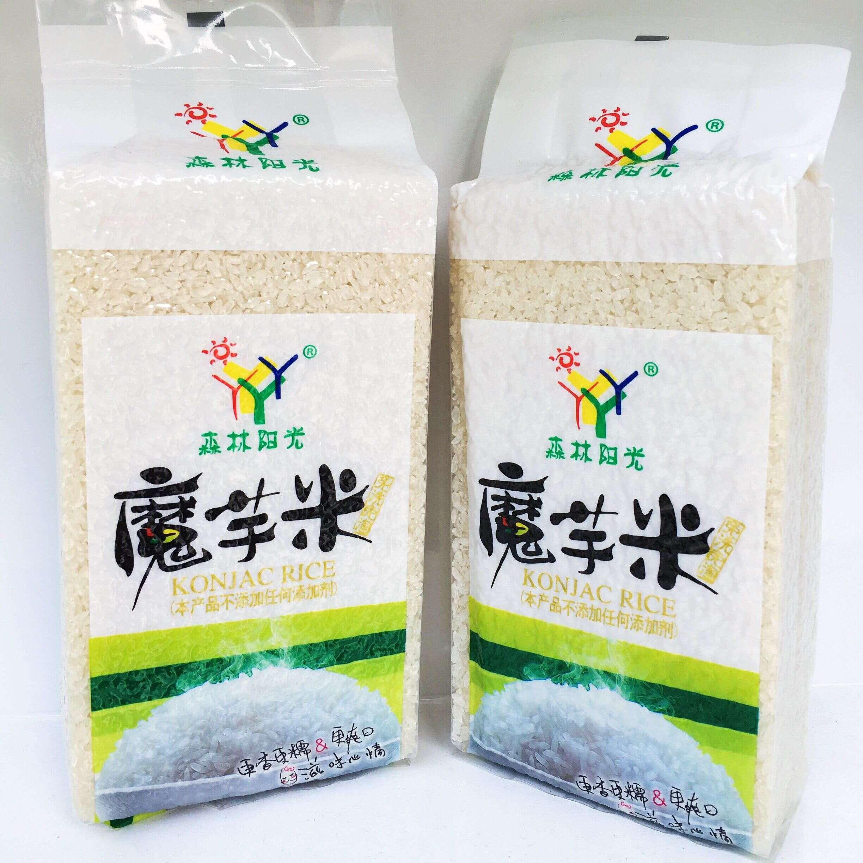 魔芋米 膳食纤维 低卡即食大米 森林阳光魔芋米