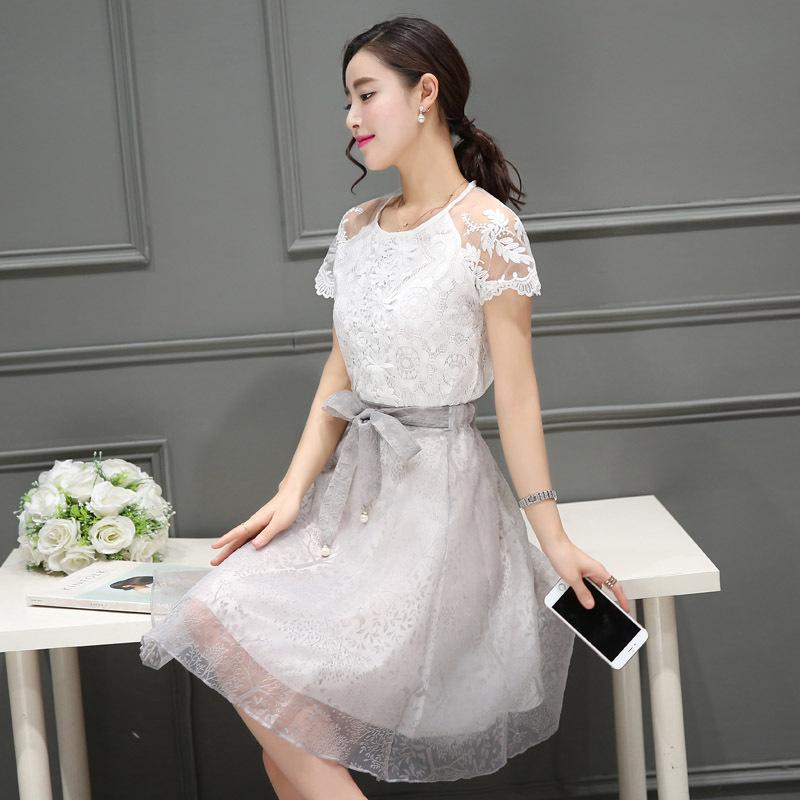 蕾丝女连衣裙韩版
