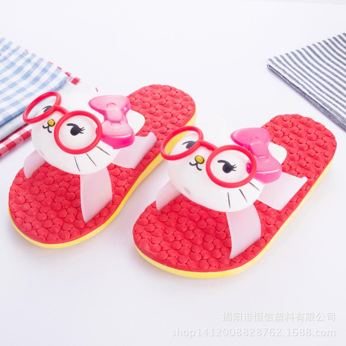 儿童凉拖鞋批发防滑可爱卡通女童木地板软底宝宝拖鞋