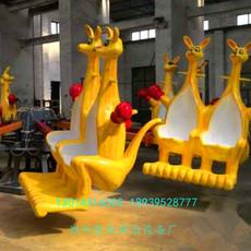 色泽鲜艳 造型奇特有趣旋转游艺机 郑州隆生欢乐袋鼠跳