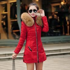 棉衣女2016新款韩版修身冬季加厚中长款棉袄女士大毛领大码女装潮