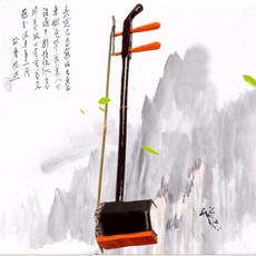 二胡乐器 初学者 成人通用演奏练习弓配件仿红木马尾六角二胡教程