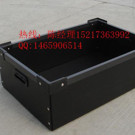 供应深圳布吉 中空板折叠周转箱 一体式刀卡箱 防静电周转箱及刀卡