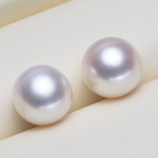 供应 半成品半孔 正圆天然淡水珍珠 diy手工定制散珠颗粒裸珠