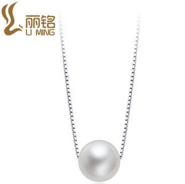 供应 925银珍珠项链 短款韩国风纯银套链 时尚饰品锁骨链