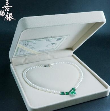 供应 天然淡水珍珠项饰 母亲节礼物 DIY珍珠项链