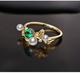 北海珍珠批發  高淨度40分***淡水珍珠 5分鑽石 18k金彩寶戒指定制
