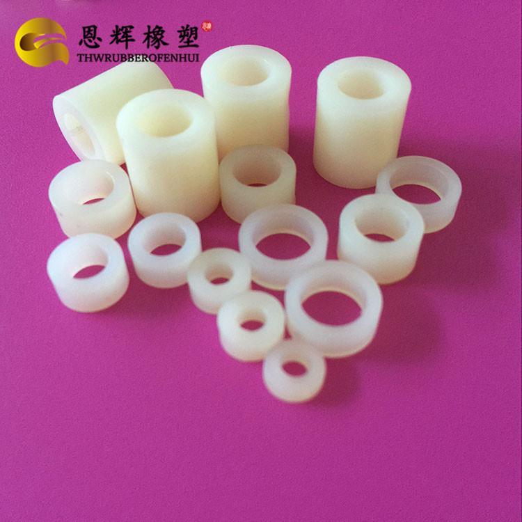 抗压强紧固绝缘尼龙垫片 耐腐蚀软性PVC平垫 可燃ABS直通圆形柱