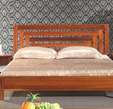 全实木双人床 高端纯柚木双人床 现代中式风格 厂家直销 可定制