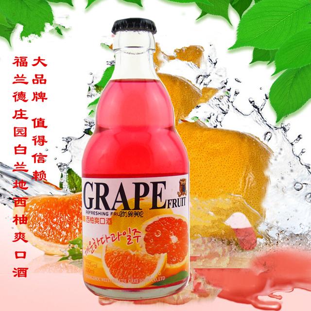 韩国式白兰地西柚爽口酒健康西柚水果酒
