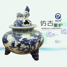 雅缶牌陶瓷 大埔厂家直销 12.5寸手绘青花熏炉(122601)