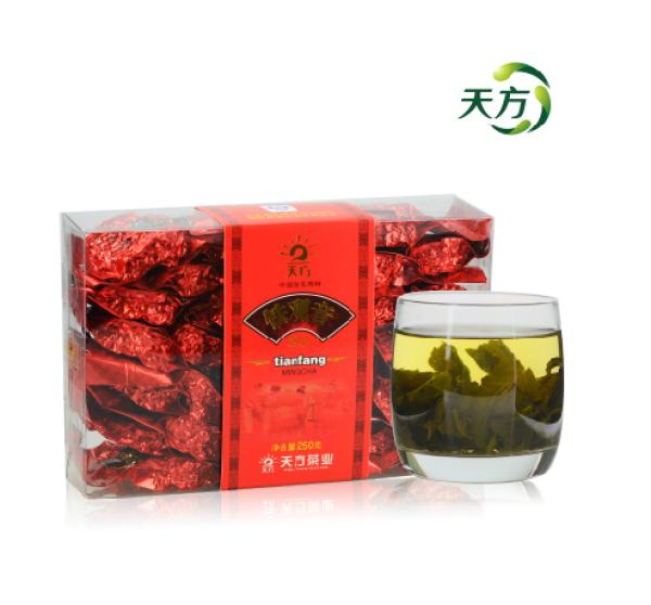 天方茶叶 乌龙茶安溪 清香型 小袋真空包装 清心铁观音250g/盒