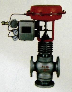 气动薄膜三通调节阀图片