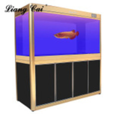 供应东莞亮彩厂家水族箱 生态龙鱼缸 玻璃鱼缸 底滤水族器材大型定制
